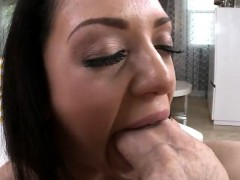 Melina Mason seduces with her round ass then gets fucked